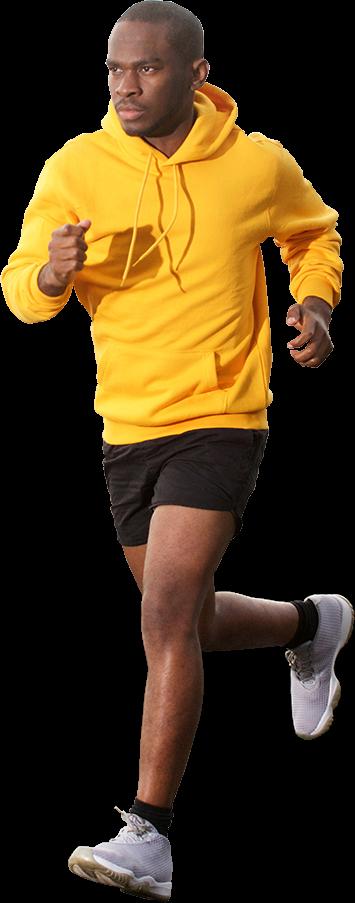 guy running