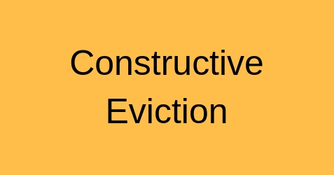 Constructive Eviction Real Town | The Real Estate Network
