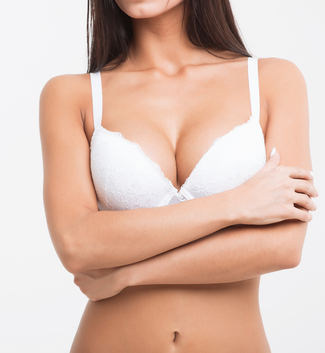 woman with toned breast