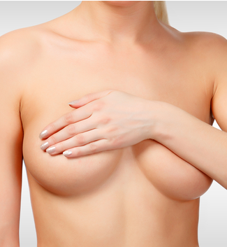 woman with reduced breast