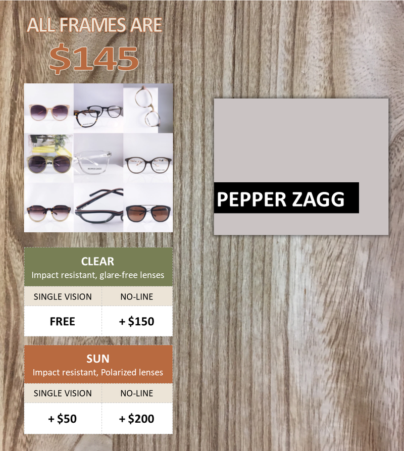 affordable frames from Pepper Zagg Eyewear