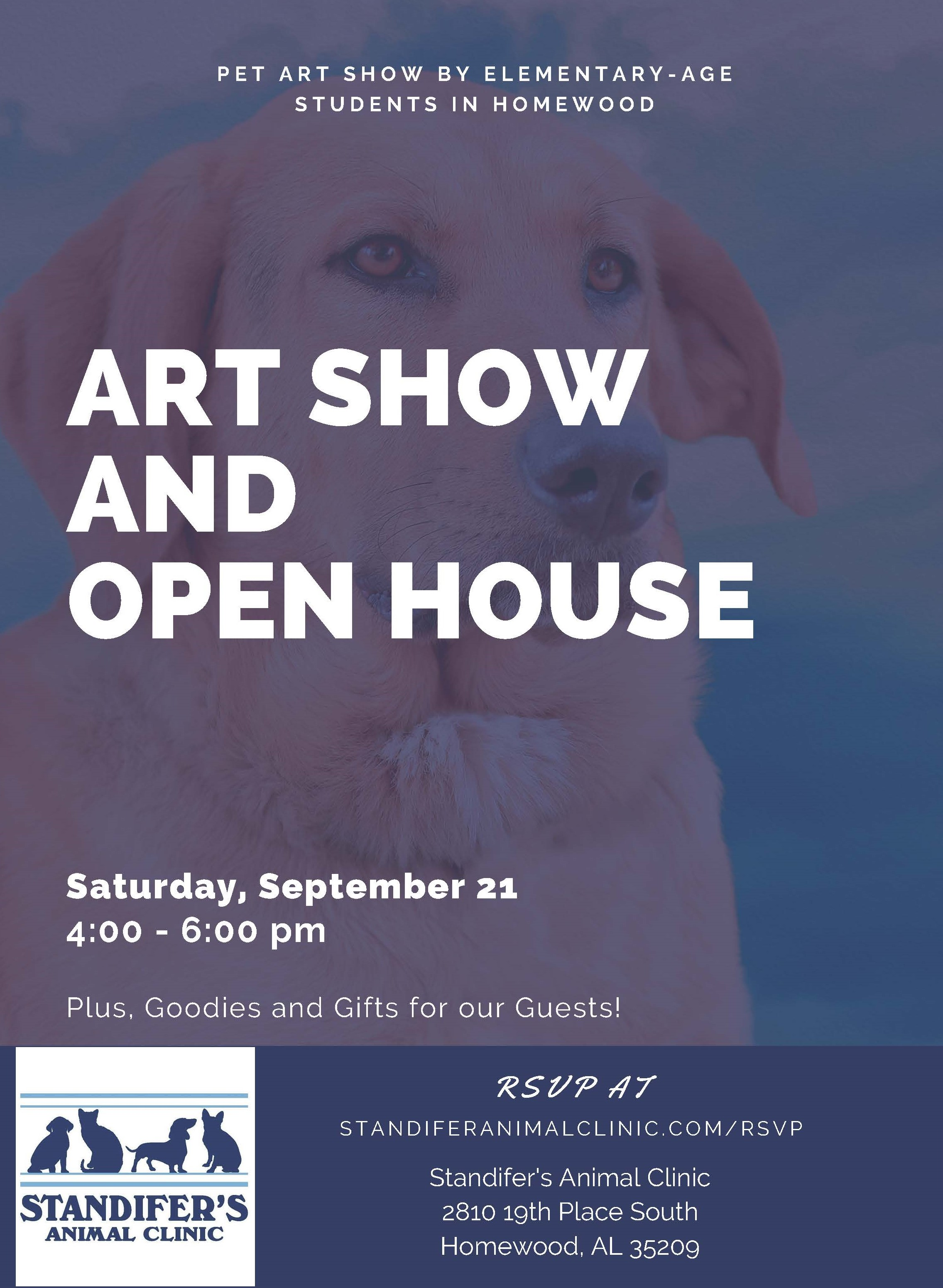 Open House & Pet Art Show on September 21st