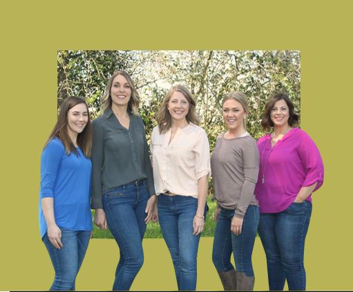 Vanessa, Kirsten, Muriel, Trisha, Shaina, and Amy