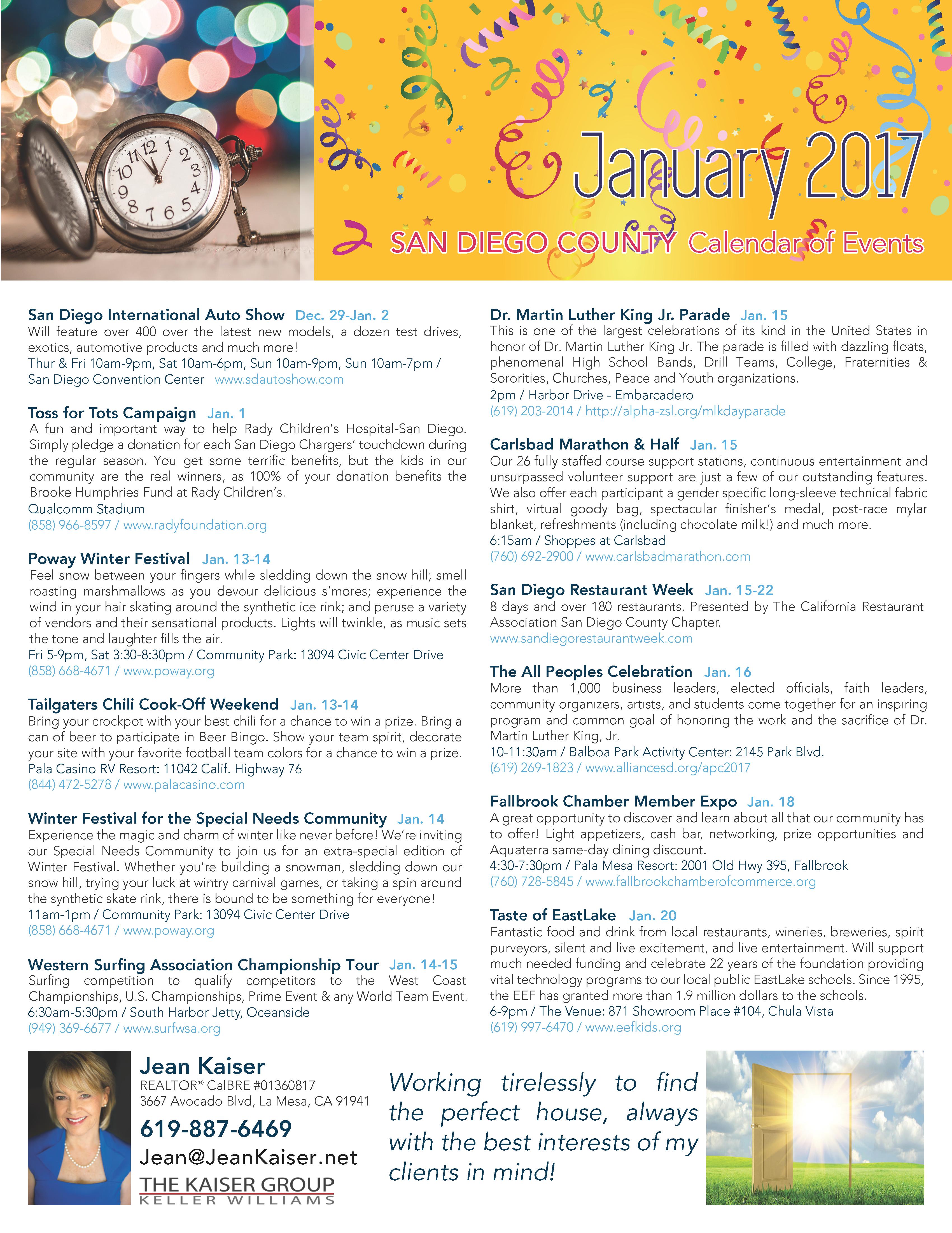 January 2017 San Diego Events