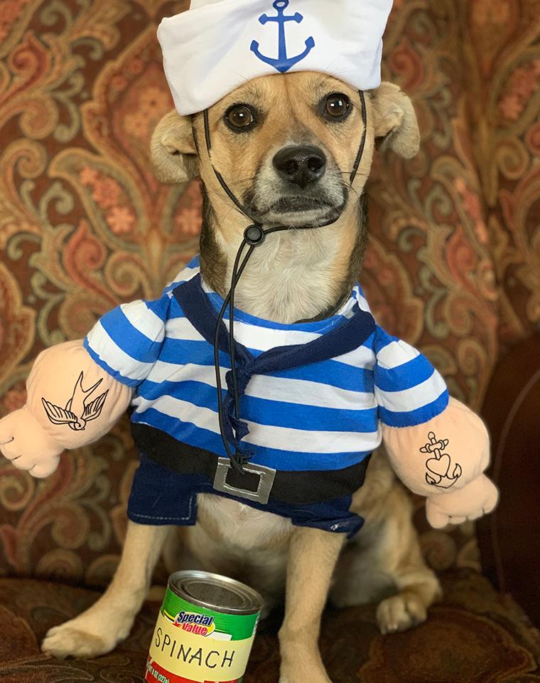 Pluto as Popeye
