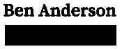 Ben Anderson