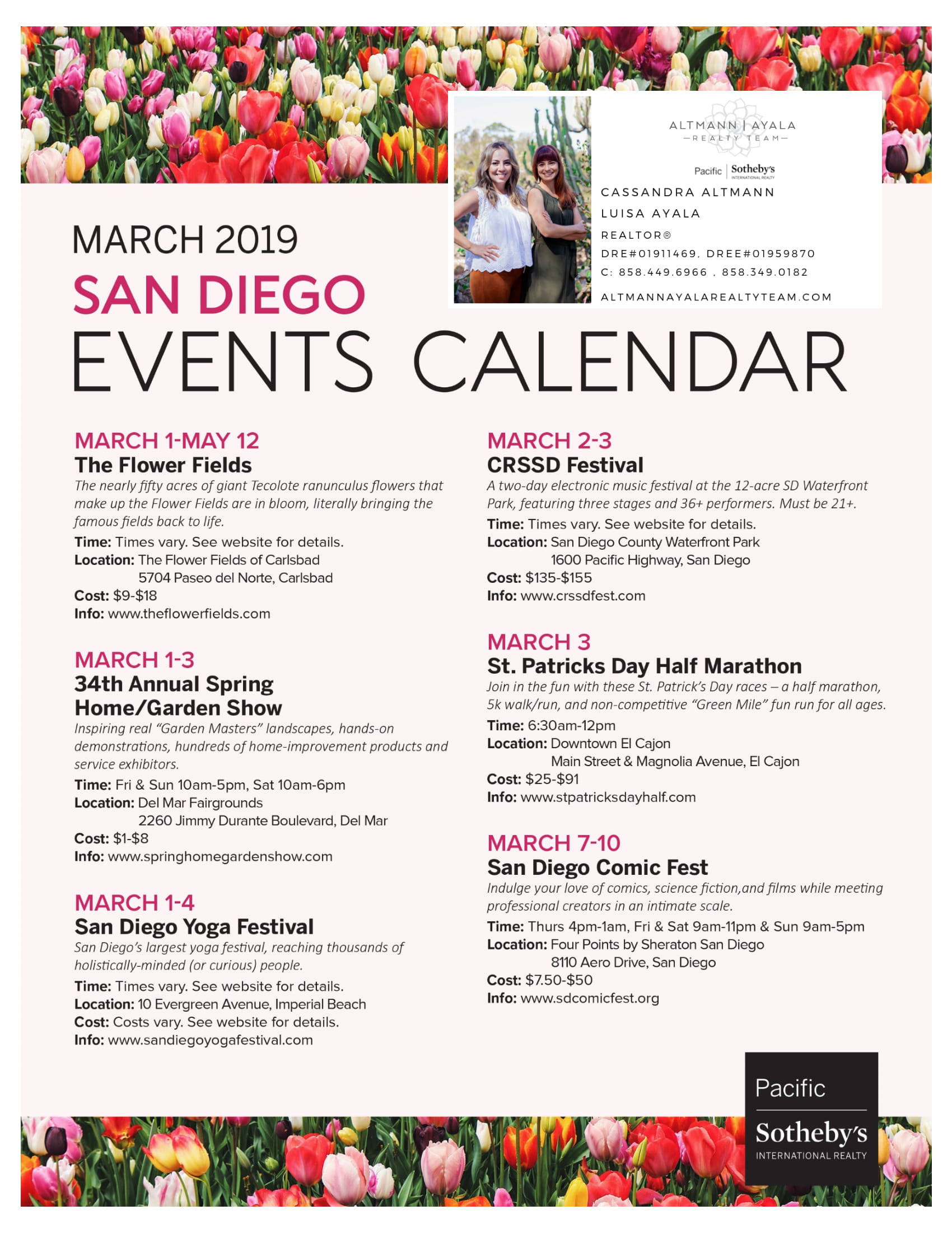 March 2019 San Diego Events Calendar