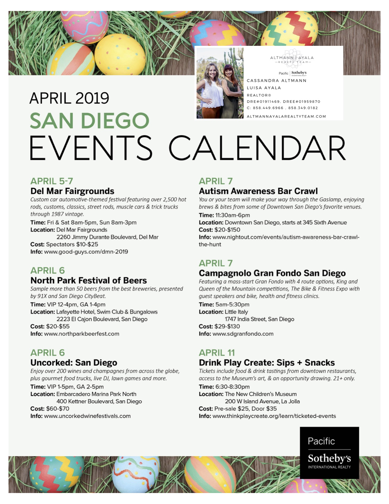 April 2019 San Diego Events Calendar
