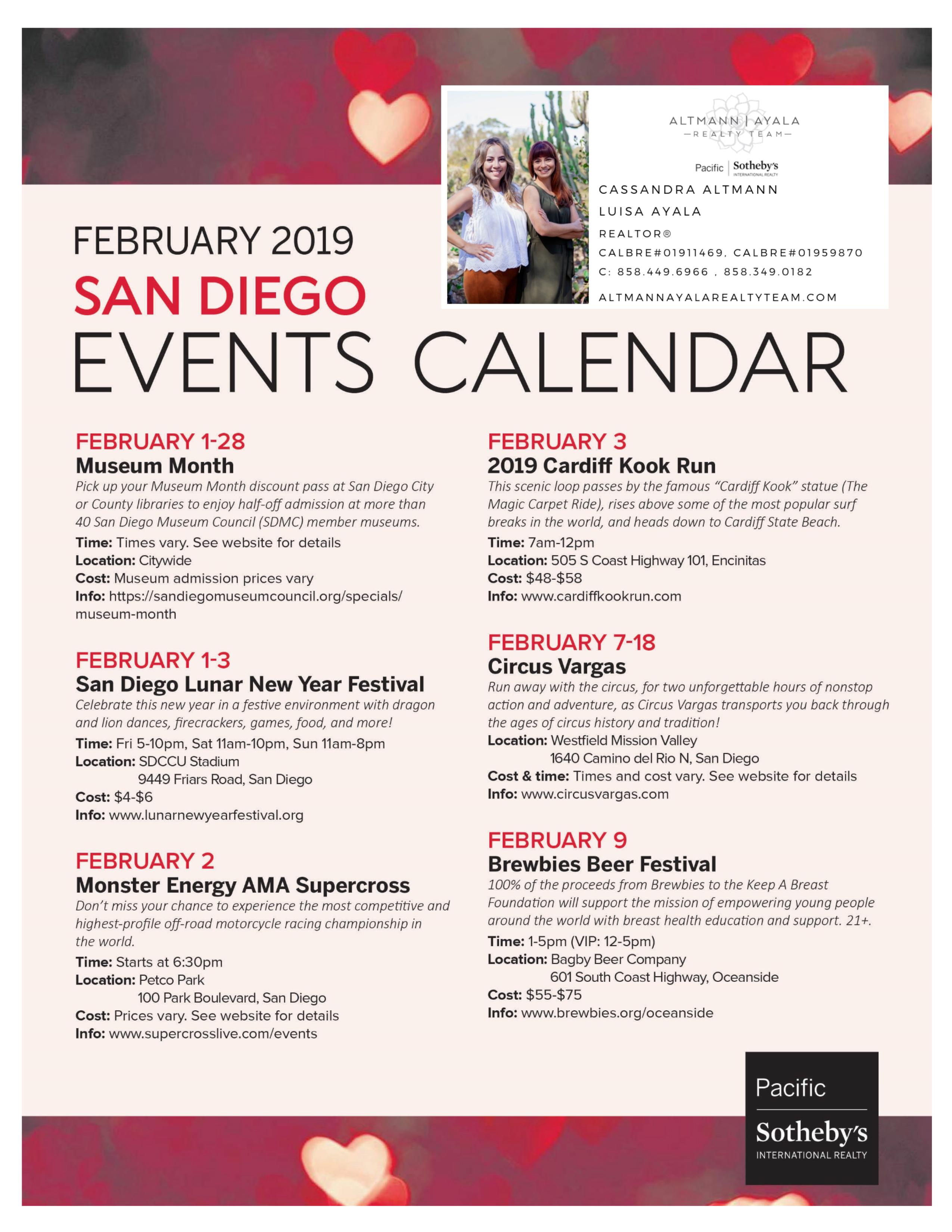 February 2019 San Diego Events Calendar