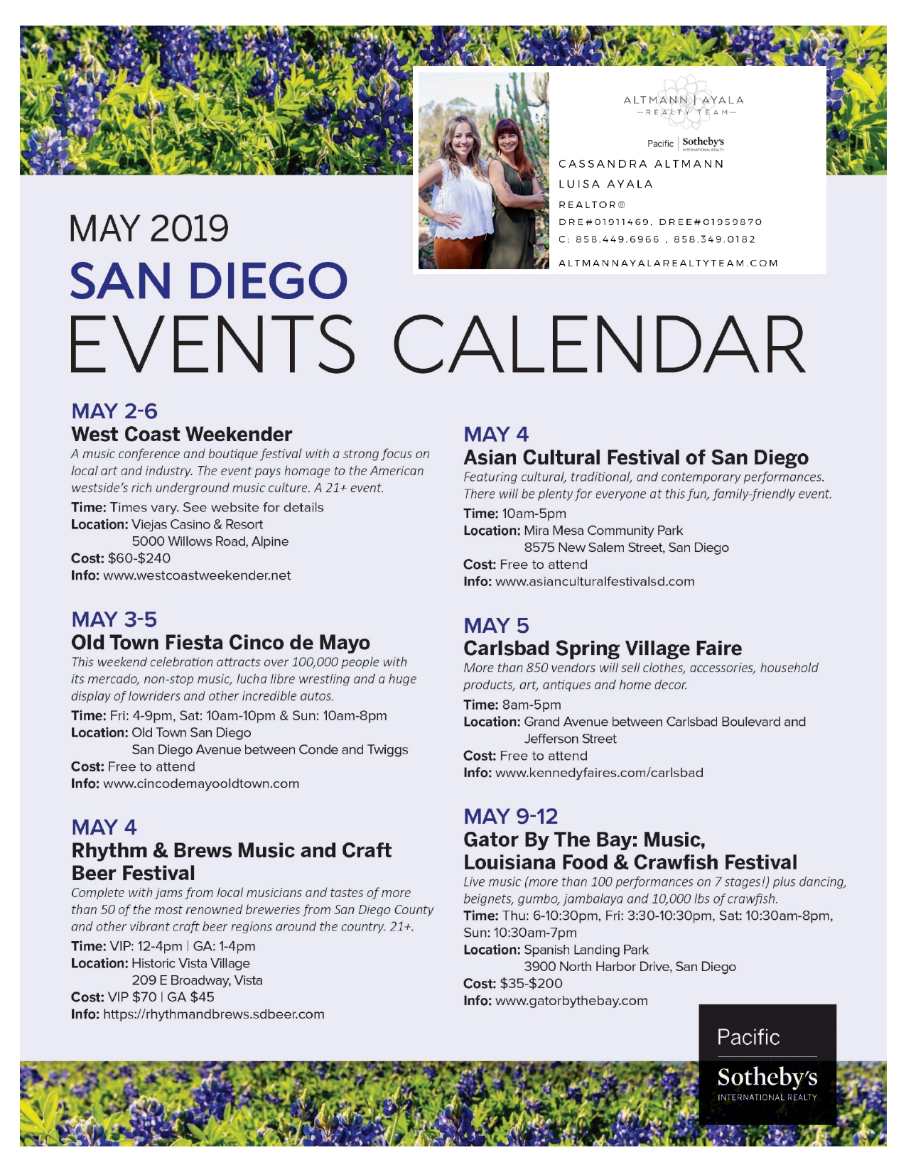 May 2019 San Diego Events Calendar