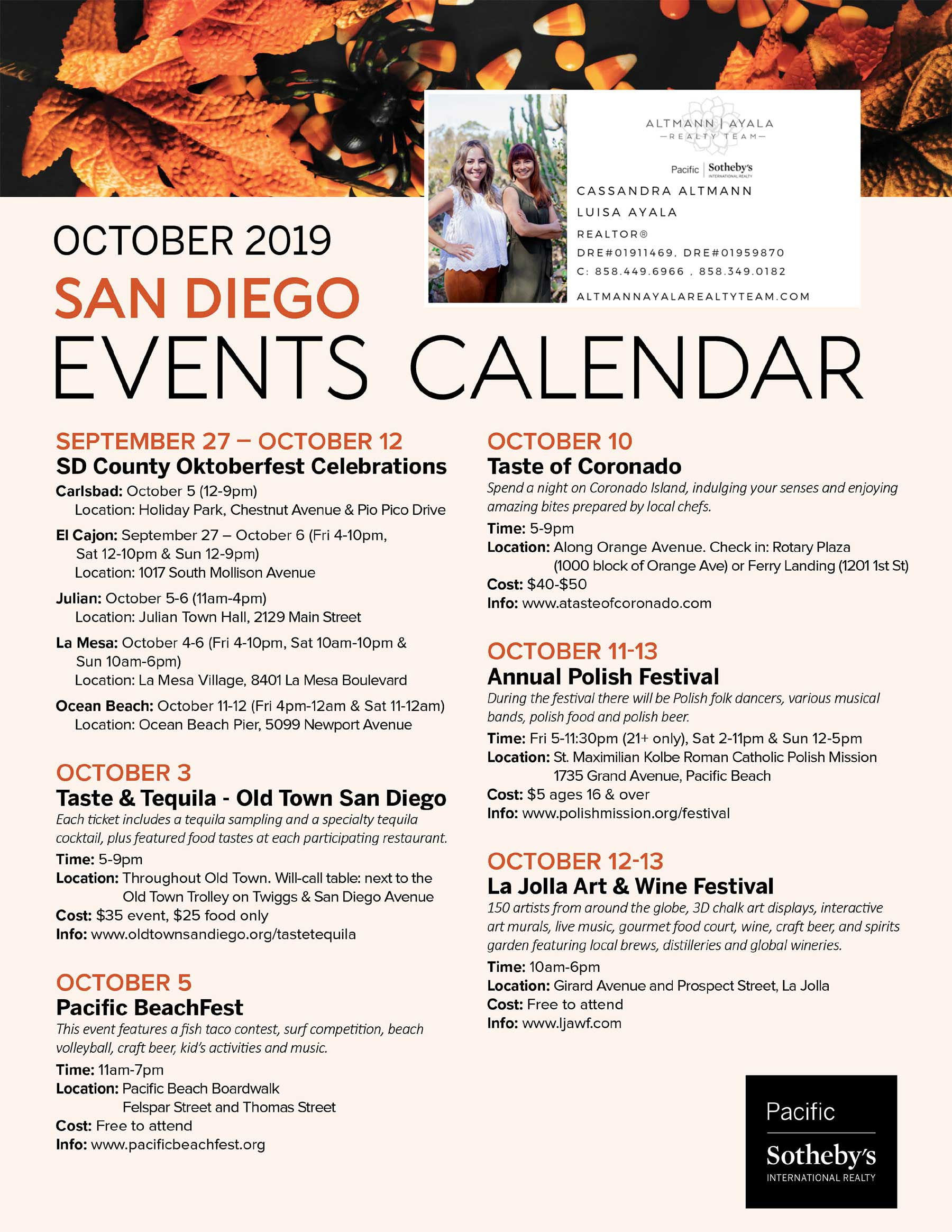 October 2019 San Diego Events Calendar
