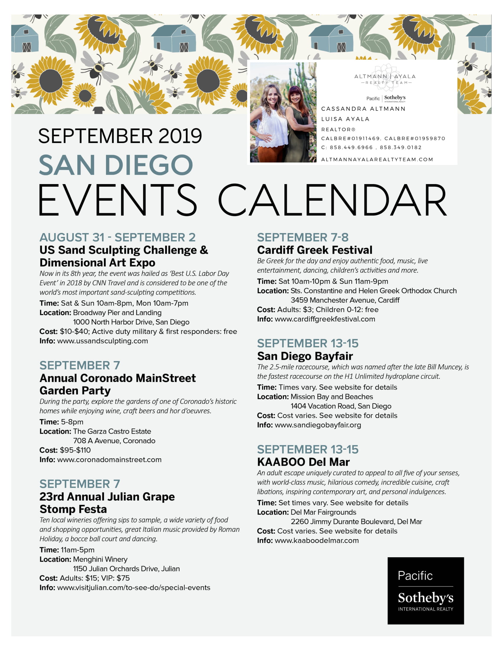 September 2019: San Diego Events Calendar