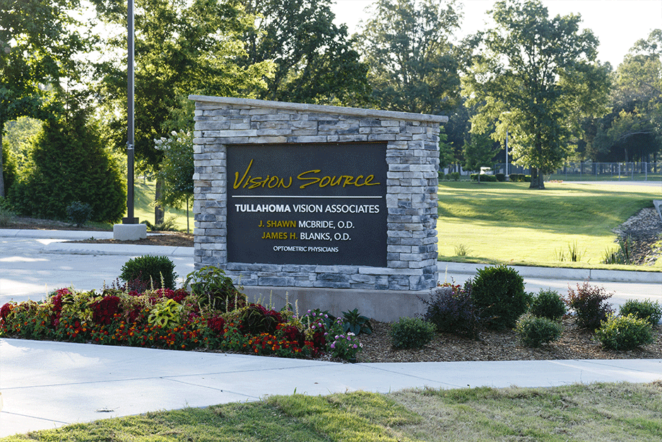 front sign at Vision Source