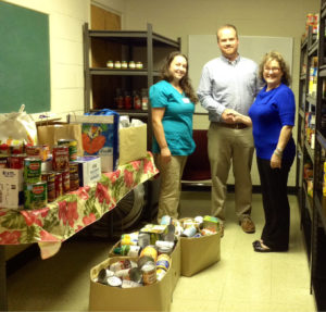 Wilkinson Animal Hospital Donates Canned Goods to Local Food Bank