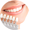 smiling lady choosing her veneers