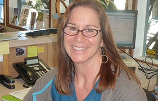 Teri - senior receptionist at Petaluma vet hospital