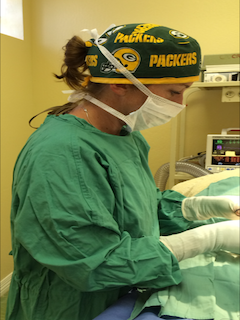 Dr Smith doing Surgery at Petaluma Veterinary Hospital