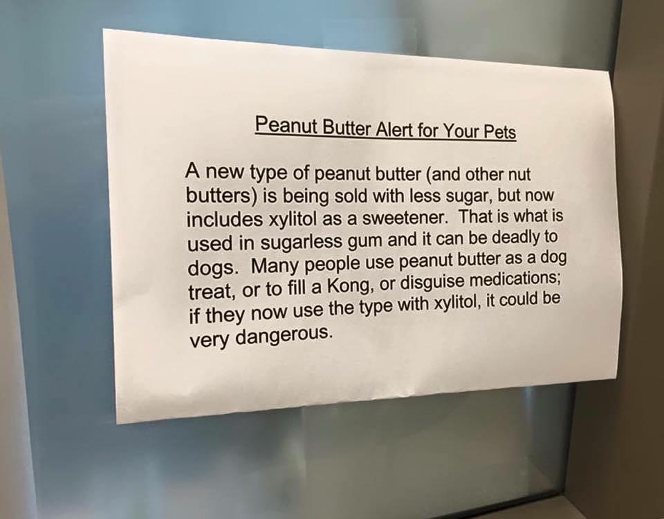 Xylitol Warning