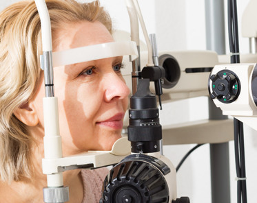 woman in eye clinic