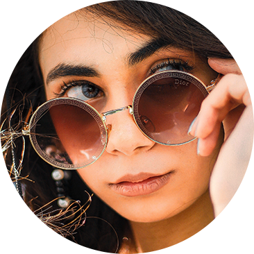 picture of woman with glasses