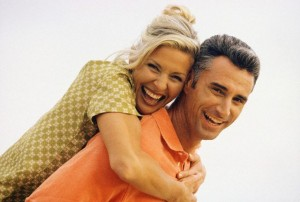 Middle-Aged Couple Laughing