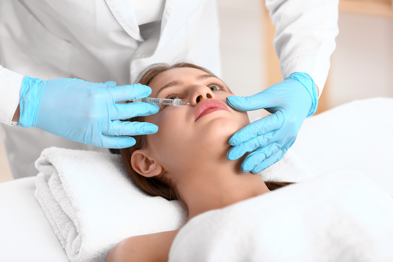 Woman getting Facial Enhancements