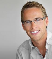 A man enjoys his smile makeover.