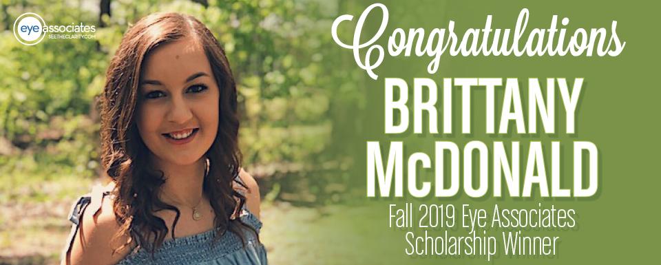 Nicholas A. Pennipede Memorial Scholarship Winner: Brittany McDonald, Fall 2019
