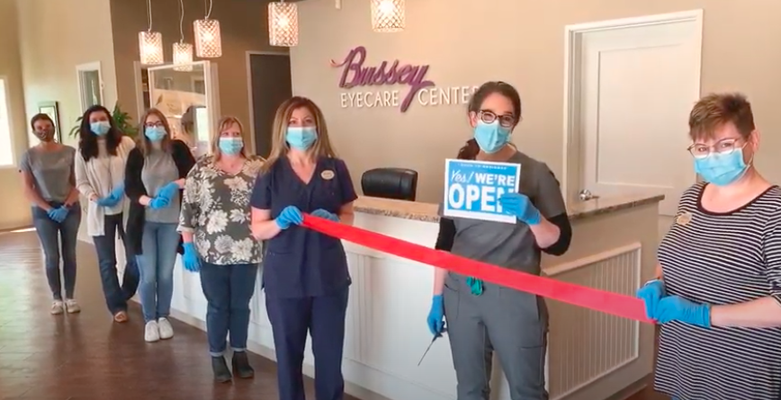 Re-opening ribbon cutting with Bartlesville Chamber of Commerce