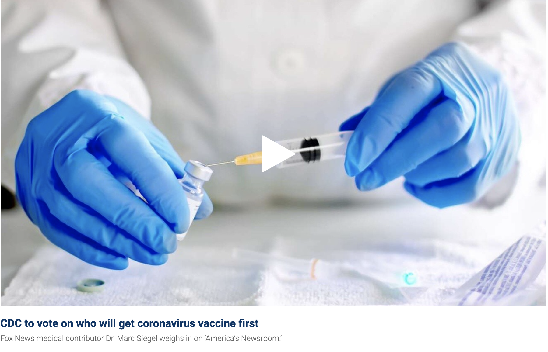 Dr. Buchin on Fox News: Could obese Americans get the coronavirus vaccine first?