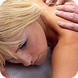 Blonde girl massage