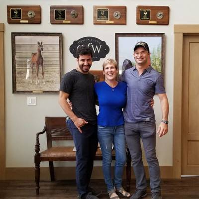 August 2018 - Sandro Pinha, Gil Valdez & Sally Townley of Arabians International