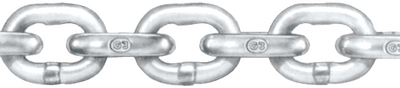 HOT GALVANIZED GRADE 30 PROOF COIL CHAIN (#251-12FT) - Click Here to See Product Details