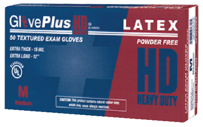 EXTRA THICK HEAVY DUTY LATEX GLOVES (#674-GPLHD86100) - Click Here to See Product Details