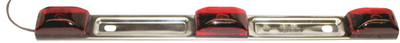 STAINLESS STEEL SUBMERSIBLE IDENTIFICATION LIGHT BAR (#177-E1513RL) - Click Here to See Product Details