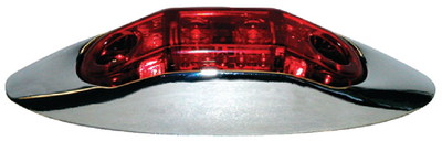 PIRANHA<sup>&reg;</sup> LED CLEARANCE LIGHT with CHROME BEZEL (#177-V168XR) - Click Here to See Product Details
