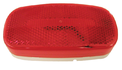 180 PIRANHA<sup>&reg;</sup> LED OVAL CLEARANCE & SIDE MARKER LIGHT WITH REFLEX (#177-V180R) - Click Here to See Product Details