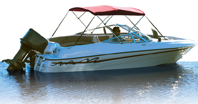 3 BOW BIMINI FRAME and FABRIC PRE-ASSEMBLED (#23-10348XGN) - Click Here to See Product Details