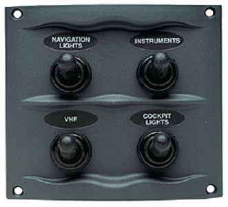 SPRAY PROOF SWITCH PANEL (#69-9004WP) - Click Here to See Product Details