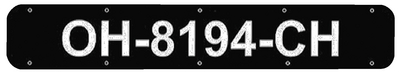 BOAT REGISTRATION NUMBER PLATES (#22-RP2400B) - Click Here to See Product Details