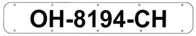 BOAT REGISTRATION NUMBER PLATES (#22-RP2400W) - Click Here to See Product Details