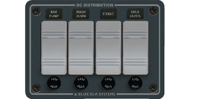 WATER RESISTANT DC FUSE PANELS - SLATE GREY (#661-8262) - Click Here to See Product Details