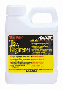 TEAK BRITE<sup>®</sup> BRIGHTENER - Click Here to See Product Details