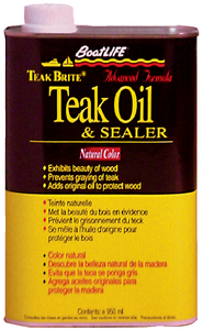 TEAK BRITE<sup>®</sup> ADVANCED FORMULA TEAK OIL & SEALER (#76-1088) - Click Here to See Product Details