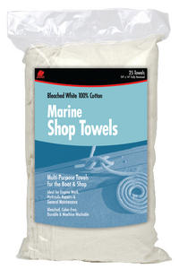 WHITE MARINE SHOP TOWELS (#199-62031) - Click Here to See Product Details