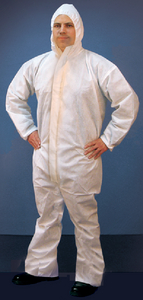 MICRO-POROUS HOODED COVERALL (#199-68255) - Click Here to See Product Details