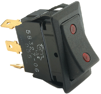 WEATHER RESISTANT ROCKER SWITCH w/DEPENDENT PILOT LIGHTS (#12-5832706) - Click Here to See Product Details