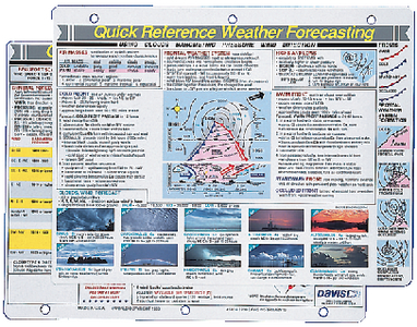 WEATHER FORECASTING REFERENCE CARD (#166-131) - Click Here to See Product Details
