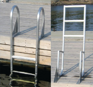 WELDED HEAVY DUTY ALUMINUM FLIP-UP LADDERS (#686-2024F) - Click Here to See Product Details