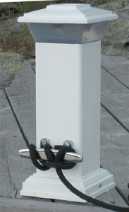 SOLAR DOCK LIGHT WITH STAINLESS STEEL CLEAT (#686-96250F) - Click Here to See Product Details